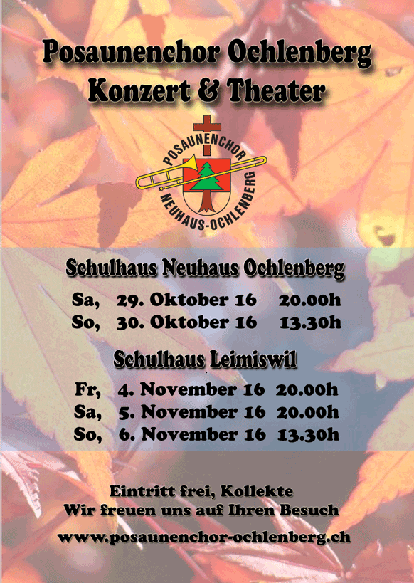 Flyer Konzert & Theater 2016