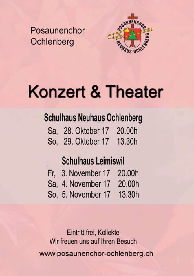 Flyer Konzert & Theater 2017